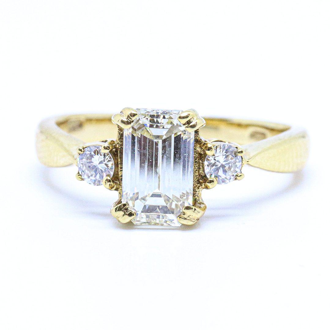 1.70ct Emerald Cut Diamond Ring