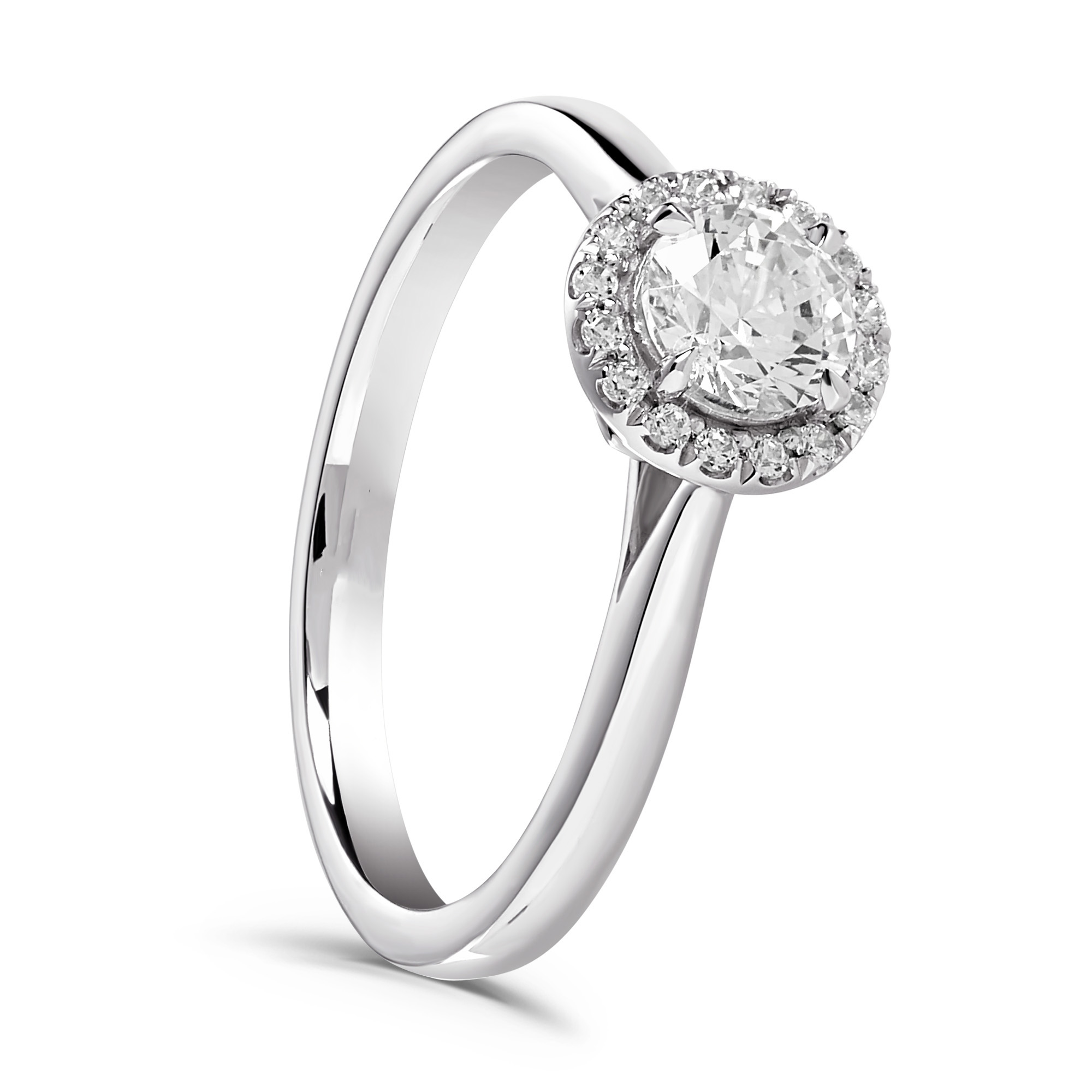 0.58ct Platinum Halo Design Ring